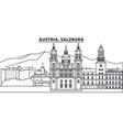 austria salzburg line skyline vector image vector image