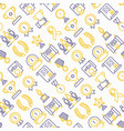 awards seamless pattern with thin line icons vector image vector image