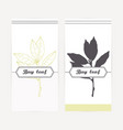 bay leaves in outline and silhouette style vector image vector image