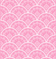beautiful pink damask background vector image vector image