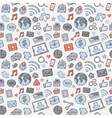 bluegreyred sticker mobile apps vector image vector image