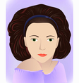brunette in lilac vector image vector image