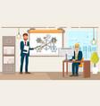 business development flat vector image