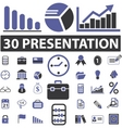 business presentation signs vector image vector image