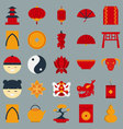 Chinese new year flat design object vector image vector image