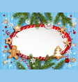 christmas festive winter template vector image vector image