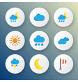 climate icons flat style set with outbreak frost vector image vector image