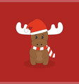 cute christmas deer vector image vector image