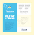 cutter business company poster template with vector image vector image