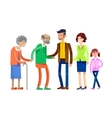 Detailed character people family vector image