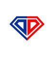 diamond initial dd lettermark symbol graphic vector image vector image