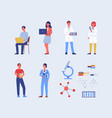 distance online chemistry courses characters set vector image