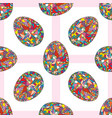 easter eggs seamless pattern hand drawn abstract vector image vector image