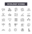 ecology line icons signs set outline vector image vector image