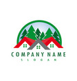 forest real estate logo vector image