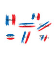 french flag with handwritten lettering france vector image