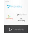 Friendship logo vector image vector image