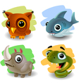 funny animals-set 2 vector image vector image