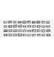 hand drawn audio tapes doodle set vector image