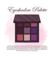 hand drawn color sketch an eyeshadow palette vector image vector image
