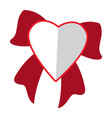 heart shape with ribbon vector image