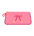 ladies cosmetic bag flat isolated vector image vector image