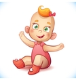 Little and baby girl Adorable baby vector image vector image