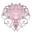 mehndi lotus flower vector image vector image