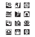 Mining and quarrying industry icon set vector image