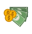 money bills icon vector image vector image