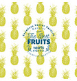 pineapple fruit seamless pattern hand drawn vector image vector image