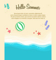 poster of summer day collection vector image vector image