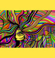 psychedelic fantasy beautiful girl hand vector image vector image