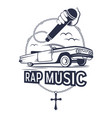 rap music vector image vector image