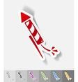 realistic design element fireworks vector image vector image