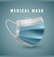 realistic medical face mask details 3d medical vector image