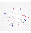 red and blue confetti vector image vector image
