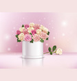 rose realistic composition vector image vector image