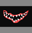 scary spooky evil protective mask design vector image vector image