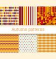 seamless autumn patterns set vector image vector image