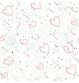 seamless heart pattern on white background with vector image vector image