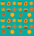 seamless pattern cakes and pie vector image vector image