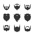 set man beard silhouette vector image