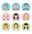 set of flat style male and female vector image vector image