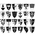set of ornamental heraldic shields vector image