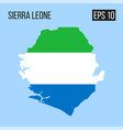 sierra leone map border with flag eps10 vector image