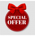 special offer tag transparent background vector image vector image