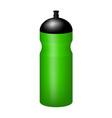 sport plastic water bottle in green design vector image