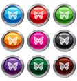 stripped butterfly set 9 collection vector image