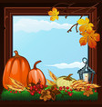 stylish poster on theme of golden autumn vector image vector image